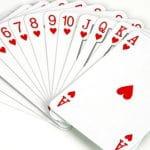 Die Herzen beim Kartenspiel Hearts